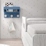 Cama nido de dormitorio infantil 12a-0003 color michigan y blanco vista de detalle frontal