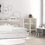 Cama nido de dormitorio infantil 12a-0003 color michigan y blanco vista general