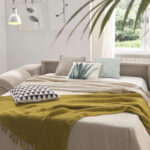 Sofá cama 2-3 plazas 10e-0006 color beige detalle de cama
