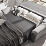 Sofá cama 2-3 plazas 10e-0006 color gris detalle de cama