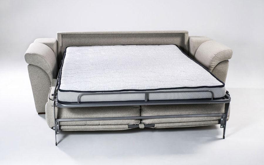 Sofá cama 2-3 plazas 10e-0006 color gris vista detalle de cama