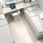 Habitación con bicama de dormitorio infantil 12b-0004 color arizona y celeste vista top