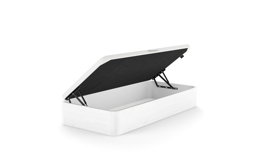 canape con apertura lateral 16b-0004 blanco vista tecnica abierto