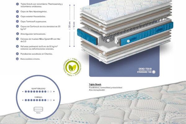 Ficha técnica de colchón juvenil 16ad-0001