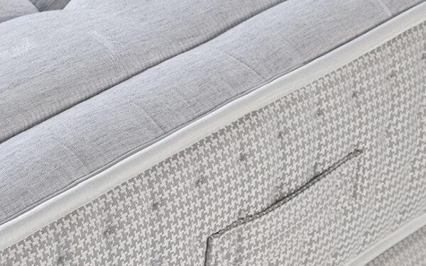 asa colchon con nucleo flexible viscoelastico 16ac-0006 blanco vista detalle