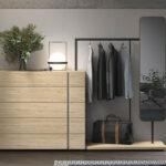 Cómoda de dormitorio de matrimonio 11a-0024 madera vista de detalle