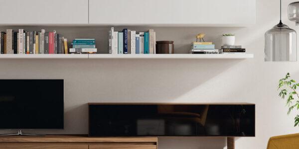 Composición de salón 14b-0009 blanco y roble vista de detalle