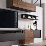 Composición de salón 14b-0014 color gris y roble vista completa