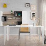 Mobiliario de despacho en casa 13a-0003 color blanco vista frontal