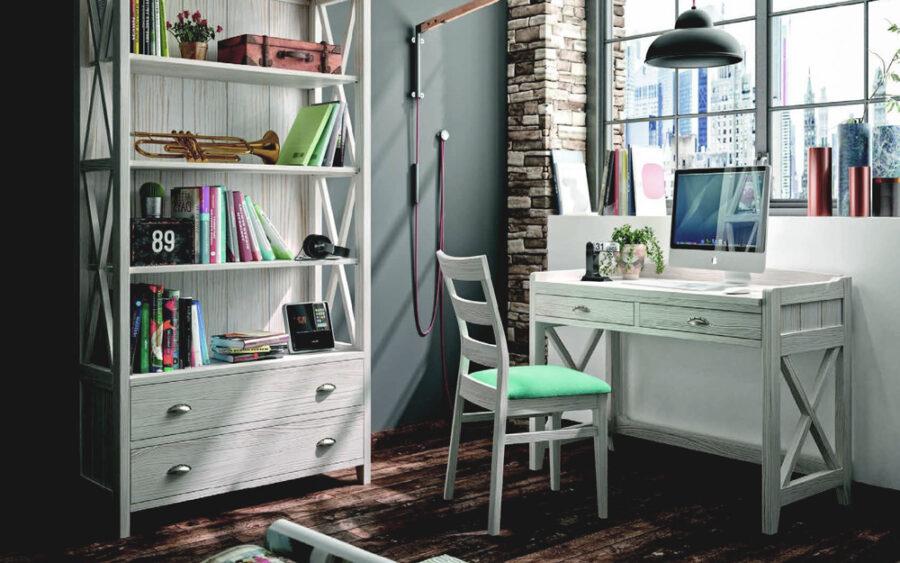 Mobiliario de despacho en casa 13a-0003 roble veteado vista completa