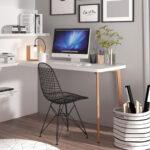 Escritorio-estantería de despacho en casa 13a-0003 color blanco vista completa