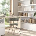 Mobiliario de despacho en casa 13a-0003 color blanco y madera vista general