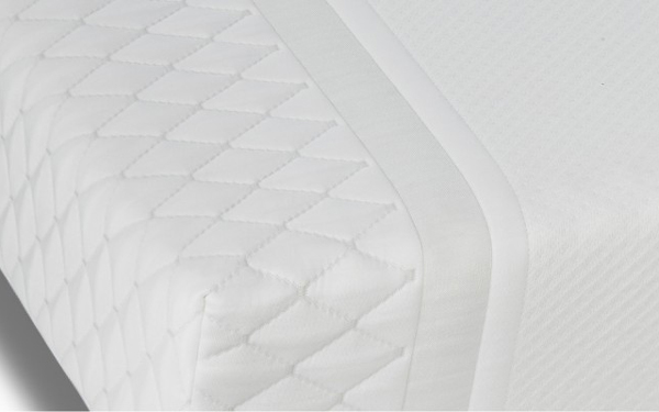 esquina colchon con nucleo flexible viscoelastico 16ac-0005 blanco vista detalle