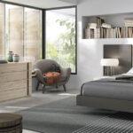 Dormitorio de matrimonio 11a-0026 color marrón y madera vista general