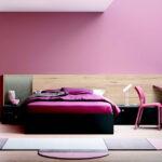 Dormitorio juvenil 12f-0008 color rosa y madera vista frontal
