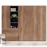 Armario de dormitorio juvenil 12d-0012 color madera vista técnica