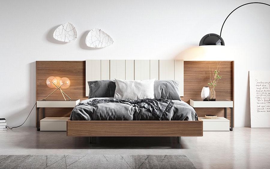 Dormitorio de matrimonio 10a-0014 color blanco y roble vista frontal