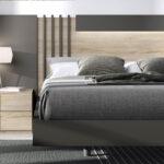 Dormitorio de matrimonio 11a-0026 color marrón y madera vista de detalle frontal