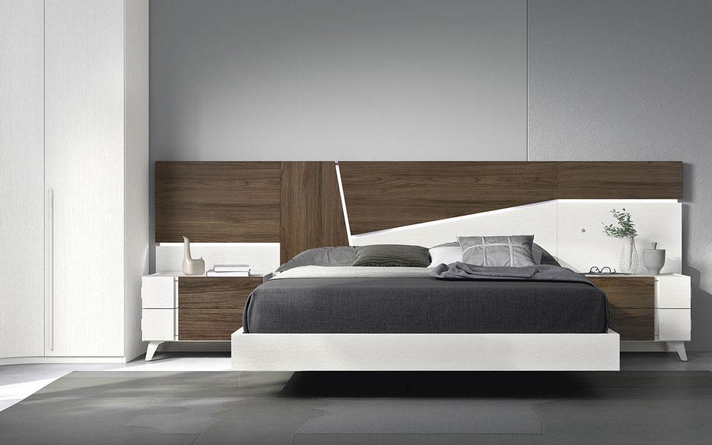 Dormitorio 11a-0029 color blanco y madera vista frontal