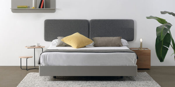 Dormitorio de matrimonio 11a-0011 color gris vista completa