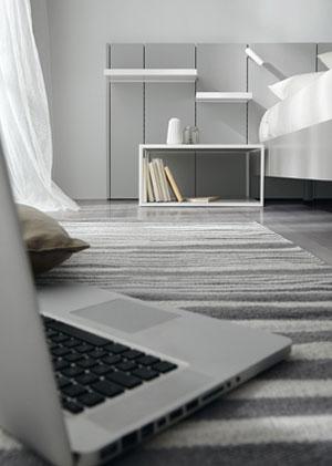 Mesilla y cabecero de dormitorio de matrimonio 11a-0004 vista frontal