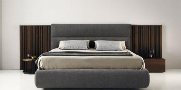 Dormitorio de matrimonio 11a-0005 color gris y roble oscuro vista frontal