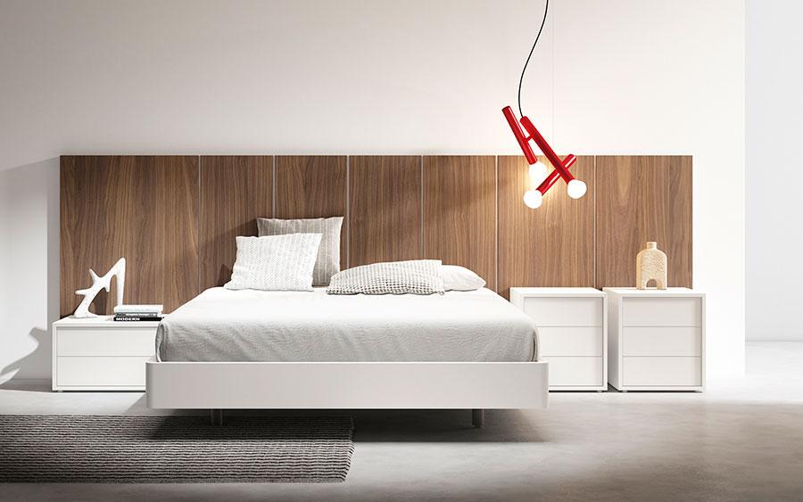Dormitorio de matrimonio 11a-0013 color blanco y roble vista frontal