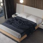 Dormitorio de matrimonio 11a-0016 color beige y blanco vista top