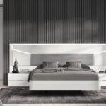 Dormitorio 11a-0023 color blanco y gris vista frontal
