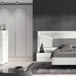 Dormitorio 11a-0023 color blanco y gris vista general