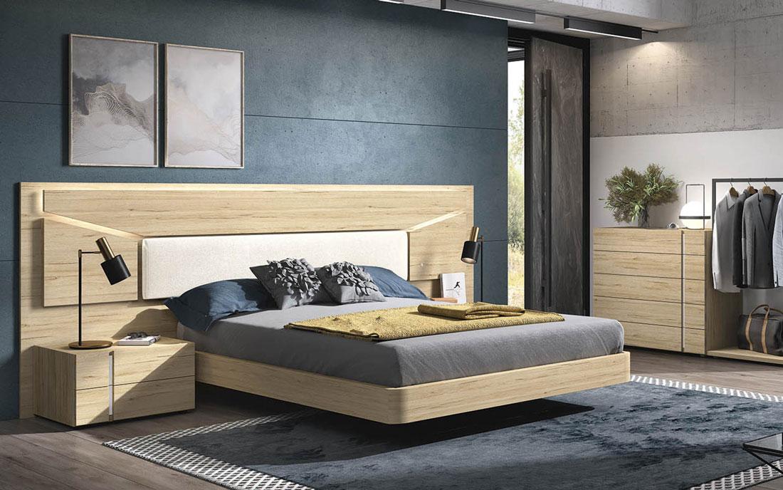 Dormitorio de matrimonio 11a-0024 madera vista general