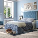 Dormitorio de matrimonio 11a-0032 color azul vista general