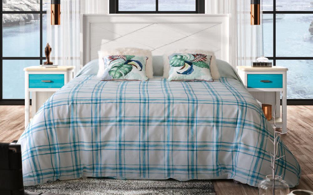 Dormitorio 11a-0034 color azul y blanco vista general