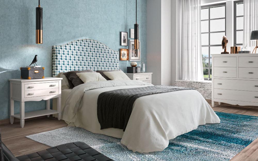 Dormitorio 11a-0036 color blanco y verde vista general