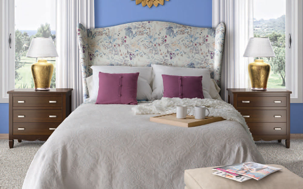 Dormitorio 11a-0039 tapizado de flores vista general