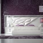 Dormitorio de matrimonio 11a-0081 color blanco y plateado vista frontal