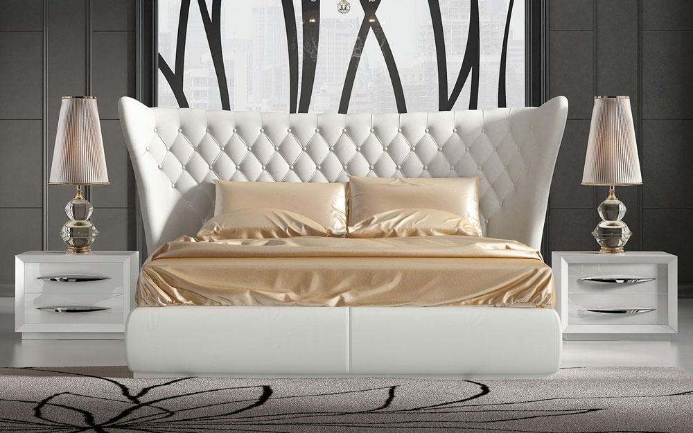 Dormitorio de matrimonio 11a-0083 color blanco vista frontal