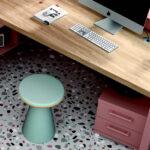 Escritorio de dormitorio infantil 12a-0007 color rosa y madera vista de detalle