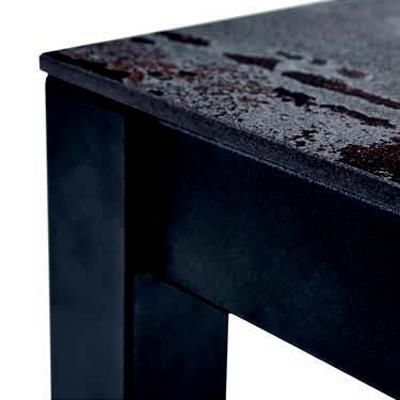 Detalle esquina de mesa de cocina 15b-0001 color gris y marrón vista técnica