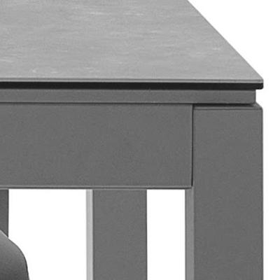 Esquina de mesa de cocina 15b-0003 vista técnica de detalle