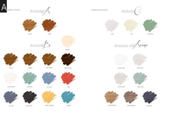 Ficha técnica de acabados y colores 13c-0009-0010