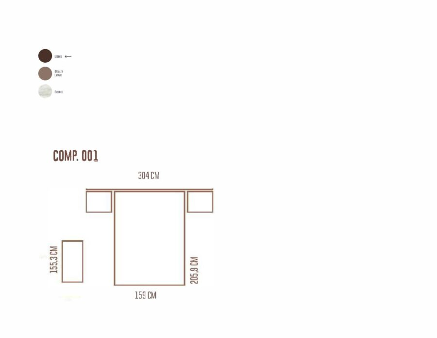 Ficha técnica de dormitorio medidas 11a-0019