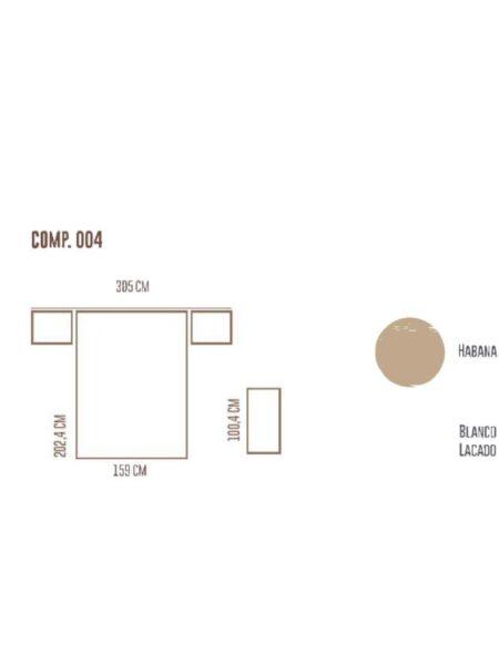 Ficha técnica de dormitorio 11a-0022