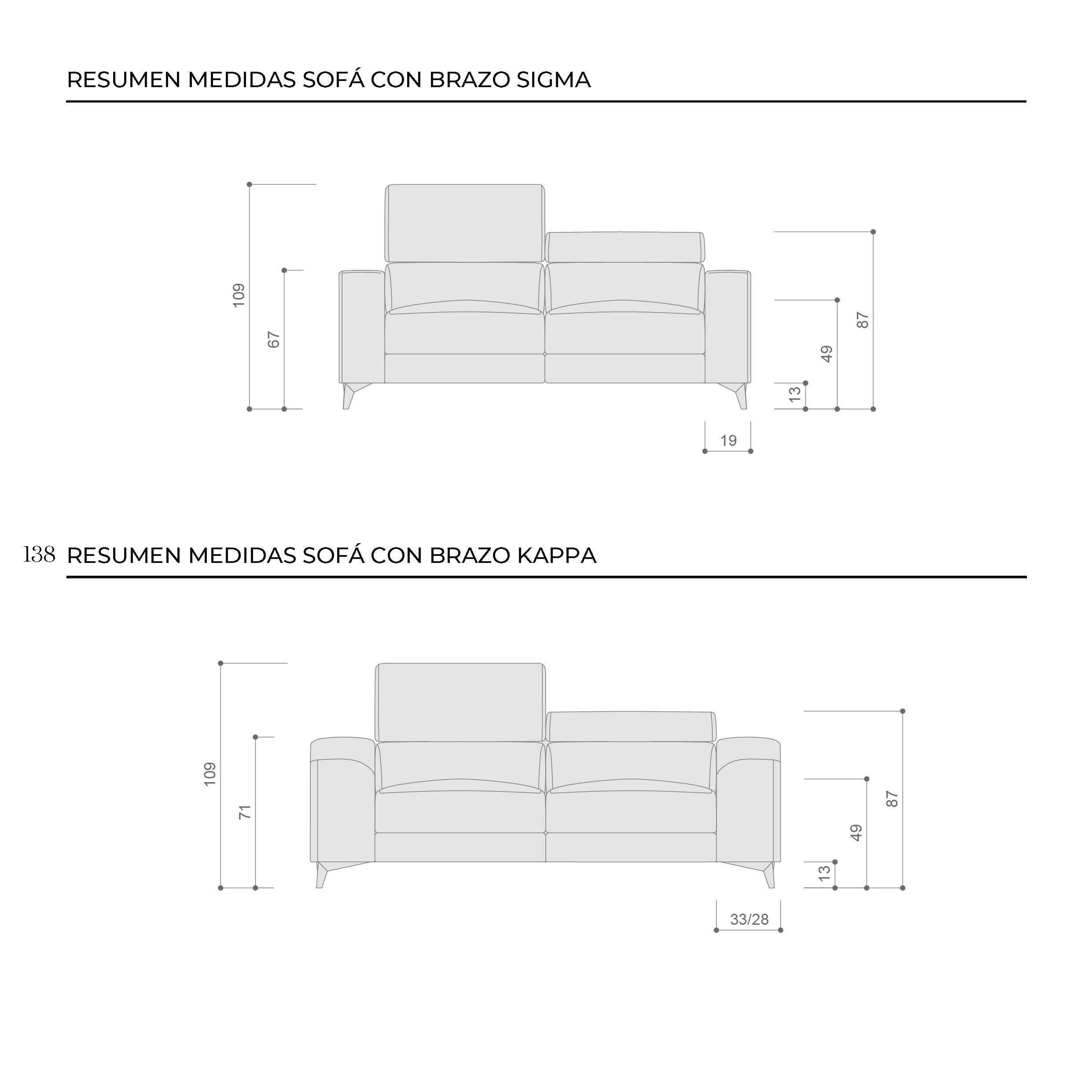 Fibra técnica medidas 10c-0009-10d-0015 sofá con brazo