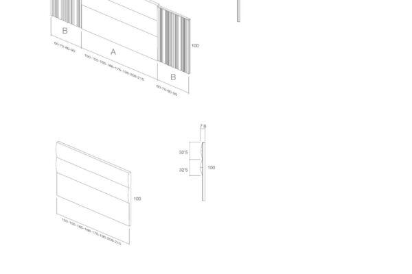 Ficha técnica de medidas 11a-0005 cabecero
