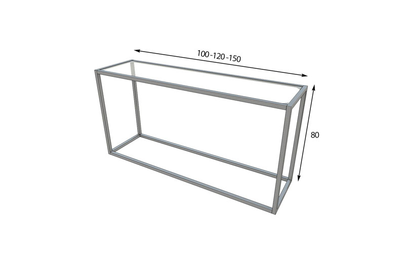 Ficha técnica de medidas de recibidor con espejo 13c-0009