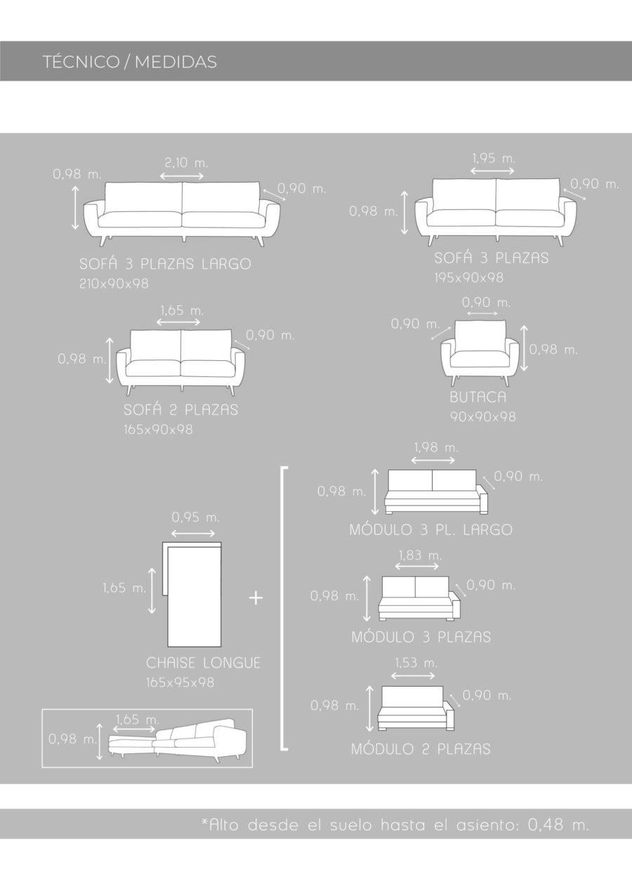 Ficha técnica de medidas de sofá 10b-0022-10d-0006