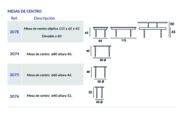 Ficha técnica de mesa auxiliar 14e-0007