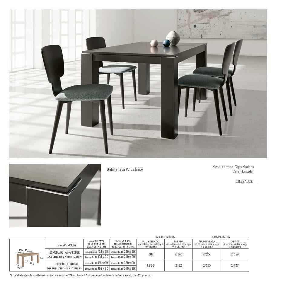 Ficha técnica de mesa de comedor 14b-0011
