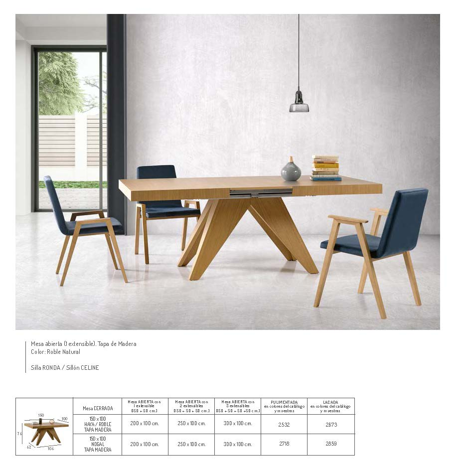 Ficha técnica de mesa de comedor 14b-0012